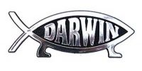 Darwin Fish Car Badge