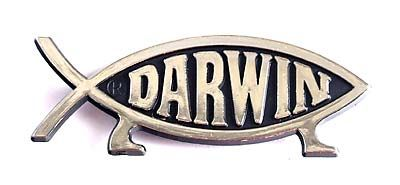 Darwin Fish Fridge Magnet (Silver)