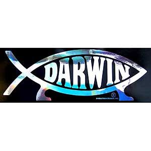 Darwin Fish Bumper Sticker