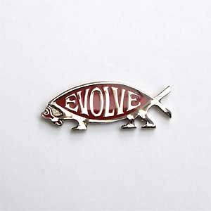 Evolve Lapel Pin(Silver on Red)