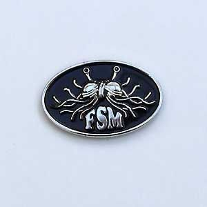 Fsm Lapel Pin Black Darwin Fish And Evolve Fish Uk Based