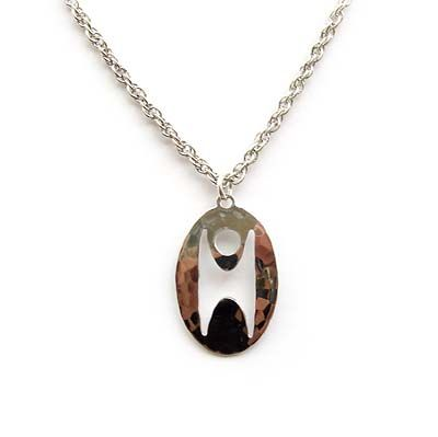 Humanist Cut-Out Oval Pendant