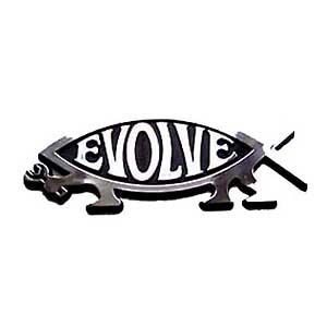 Evolve Fish Car Badge Darwin Fish And Evolve Fish Uk Based